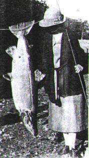 Clementine Morrison 1924, River Deveron, 61 Pfund Rekord auf Fliege