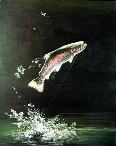 Fliegenfischen Robert W Hines Regenbogenforelle