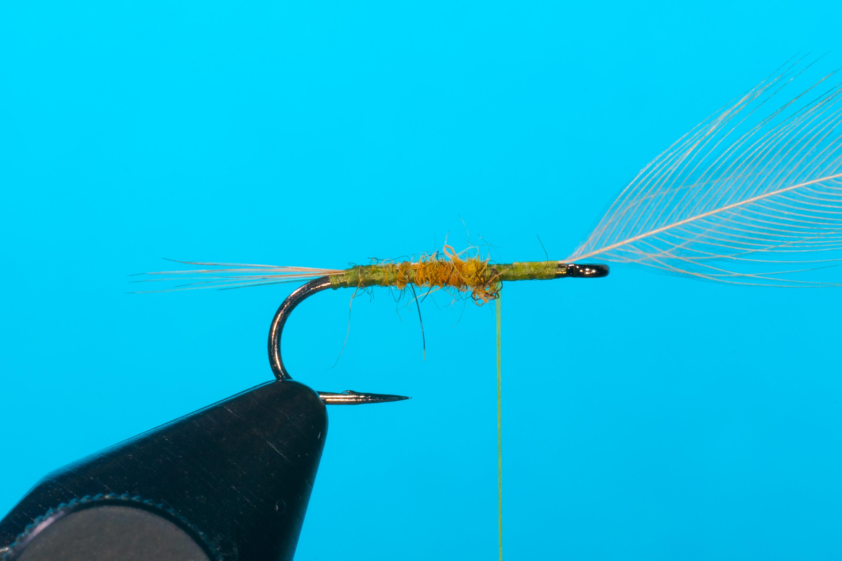Forelle Äsche Fliegenbinden Blue Winged Olive BWO Flymph 2