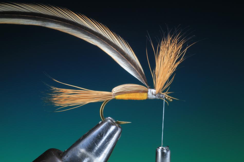 Forelle Äsche Fliegenbinden Barry Ord Clarke Humpy17