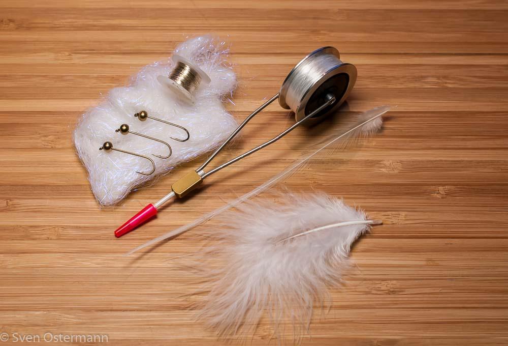 Forelle Äsche Fliegenbinden Woolly Bugger Material
