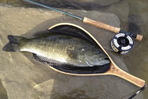 Fliegenfischen Lake Osoyoos British Columbia Schwarzbarsch