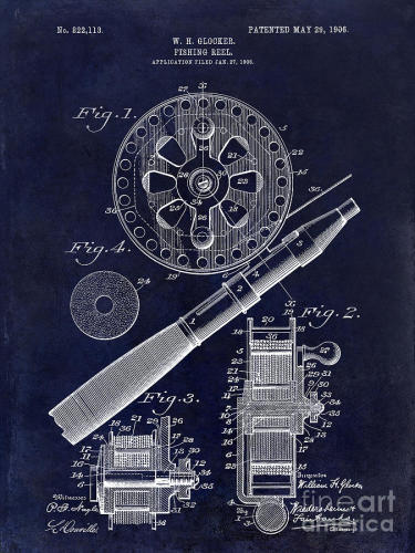 1906-fishing-reel-patent-drawing